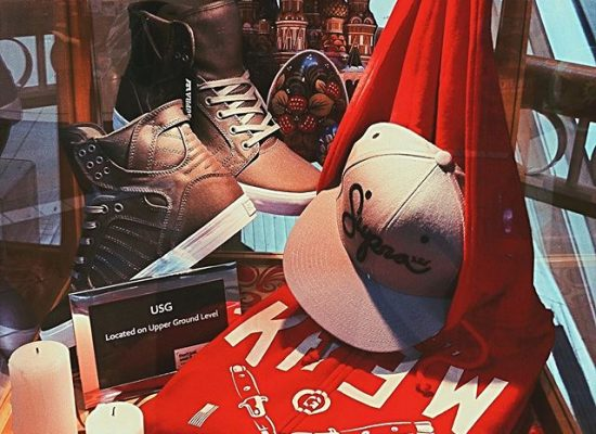 Arrangement of visual merchandise